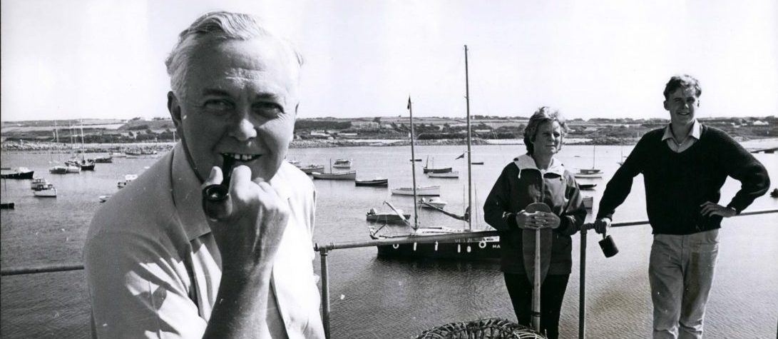 Mr Harold Wilson on Holiday in the Sicily Islands