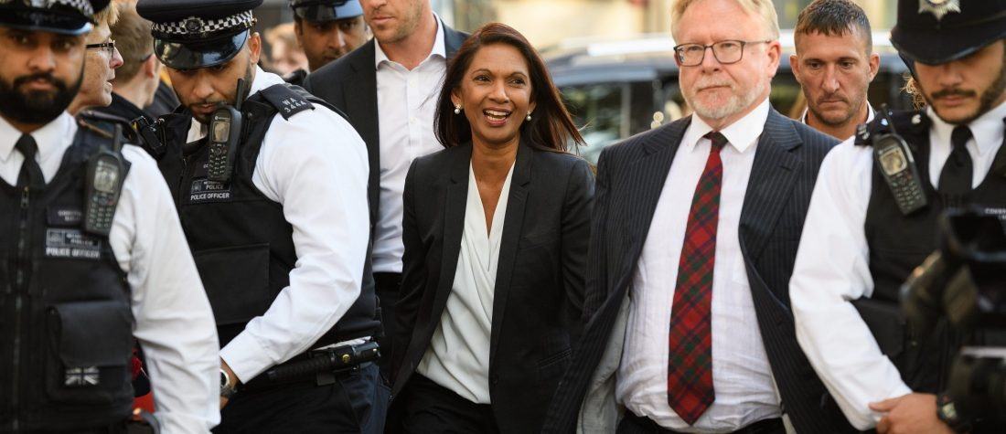 Gina Miller arrives at the Supreme Court ahead of a hearing on the legality of proroguing Parliament, on September 19, 2019. (Photo by Leon Neal/Getty Images)