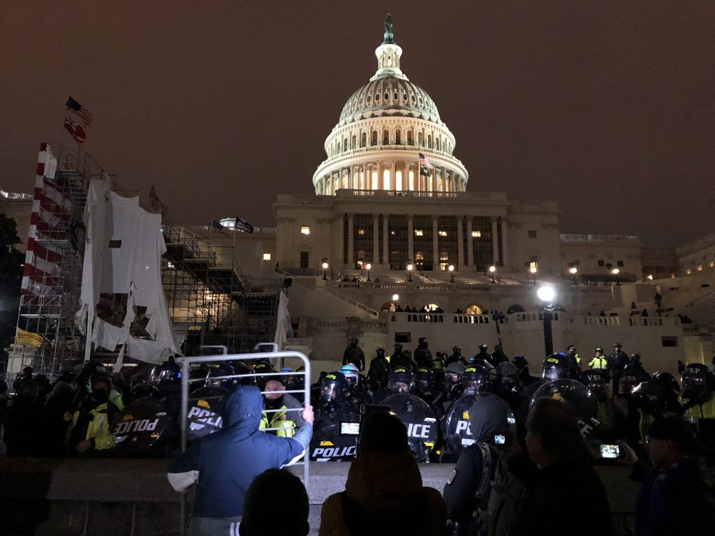 The storming of the Capitol on January 6. Tyler Merbler