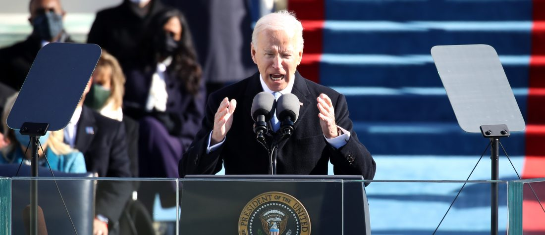 Joe Biden becomes the 46th president of the United States. (Photo by Rob Carr/Getty Images)